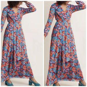 Mod Cloth Fully Fab Floral Faux Wrap Maxi Dress